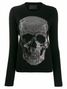 Philipp Plein skull embellished sweater - Black