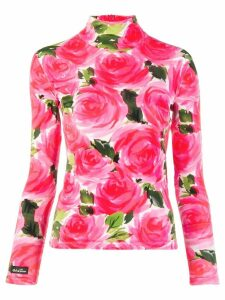 Richard Quinn floral print top - PINK