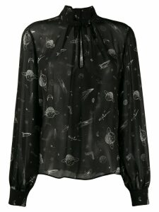 Pinko space print blouse - Black
