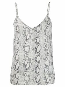 FRAME snakeskin print top - Grey