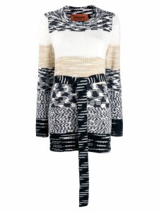 Missoni tie-waist knitted jumper - Black