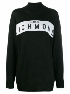 John Richmond Cufra intarsia logo sweater - Black