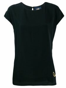Cavalli Class logo embroidered T-shirt - Black