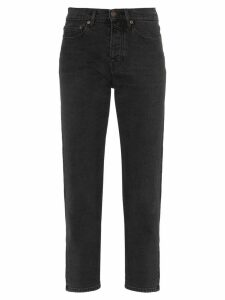 Jeanerica straight leg cropped jeans - Black