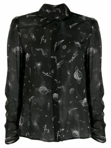 Pinko space print shirt - Black