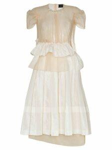 Simone Rocha Chloe deconstructed midi dress - NEUTRALS