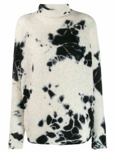 Suzusan tie-dye effect sweater - White