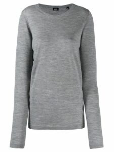 Aspesi round neck fine knit jumper - Grey