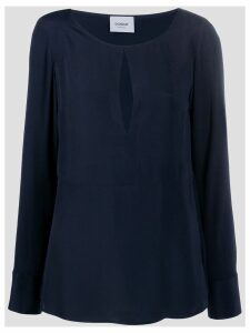 Dondup keyhole blouse - Blue