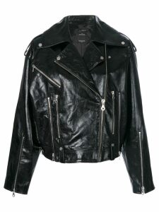Rokh oversized biker jacket - Black
