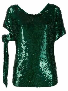 P.A.R.O.S.H. Gasoline sequin top - Green