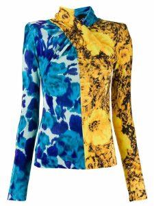Richard Quinn sunflower twisted top - Blue