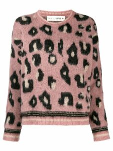 Shirtaporter leopard print sweater - PINK