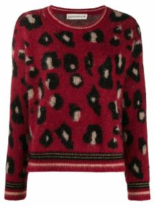 Shirtaporter leopard print sweater - Red