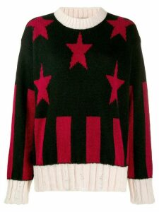Shirtaporter star pattern sweater - Black