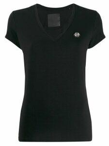 Philipp Plein v-neck T-shirt - Black