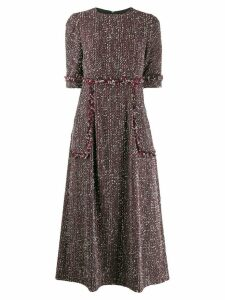 Talbot Runhof tweed midi dress - Black