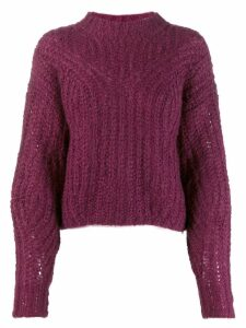 Isabel Marant knitted mohair blend jumper - PURPLE
