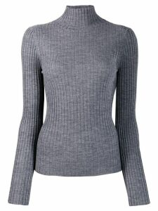 Plan C turtleneck wool jumper - Grey
