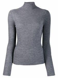 Plan C turtleneck wool jumper - Grey