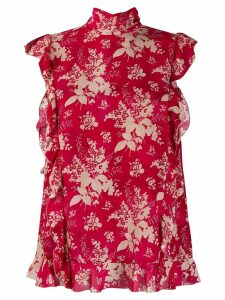 Red Valentino floral-print sleeveless blouse
