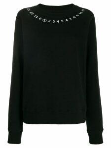 Maison Margiela signature number print sweater - Black