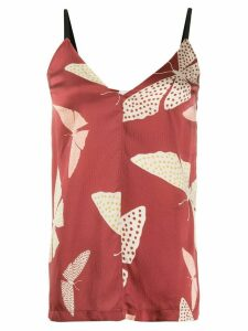 Forte Forte butterfly print tank top - Red