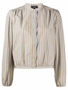 Theory mandarin collar shirt - Brown