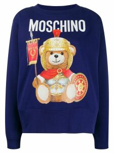 Moschino logo printed sweatshirt - Blue