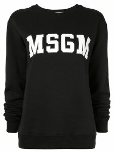 MSGM logo crew neck sweatshirt - Black