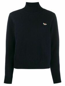 Maison Kitsuné fox detail jumper - Blue