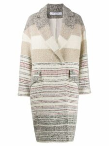 IRO Loux striped coat - NEUTRALS