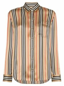 Burberry archive-stripe silk shirt - Gold