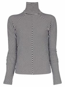 Haider Ackermann striped turtleneck jumper - Black