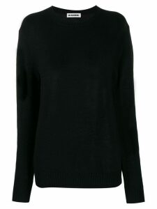 Jil Sander oversized knitted sweater - Black
