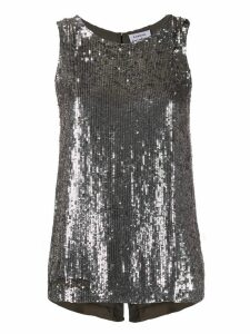 P.A.R.O.S.H. sequin disco vest top - SILVER