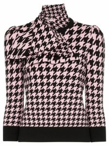 Alexander McQueen houndstooth intarsia knitted top - Black