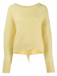 Kenzo scoop neck knitted jumper - Yellow