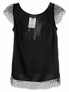 Talbot Runhof lace contrast blouse - Black