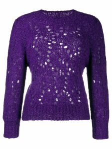 Isabel Marant Étoile cut out holes jumper - PURPLE