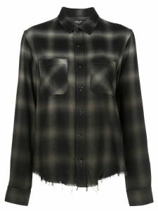 AMIRI ombré plaid shirt - Green