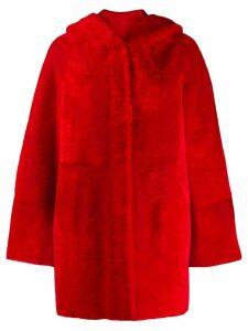 Drome reversible faux fur coat - Red