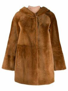 Drome reversible faux fur coat - Brown