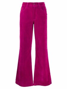 Marc Jacobs velveteen flared jeans - Pink