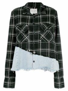 Greg Lauren Christian Studio plaid shirt - Black