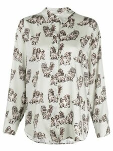 MSGM Kitten print shirt - White