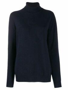 Jil Sander rollneck cashmere sweater - Blue