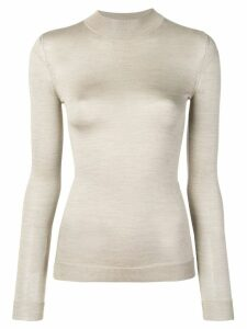 Emilio Pucci High Neck Silk-Knit Sweater - NEUTRALS