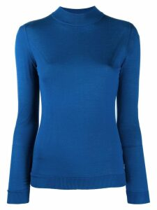 Emilio Pucci mock neck knitted top - Blue