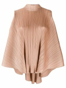 Pleats Please Issey Miyake deconstructed pleated top - NEUTRALS